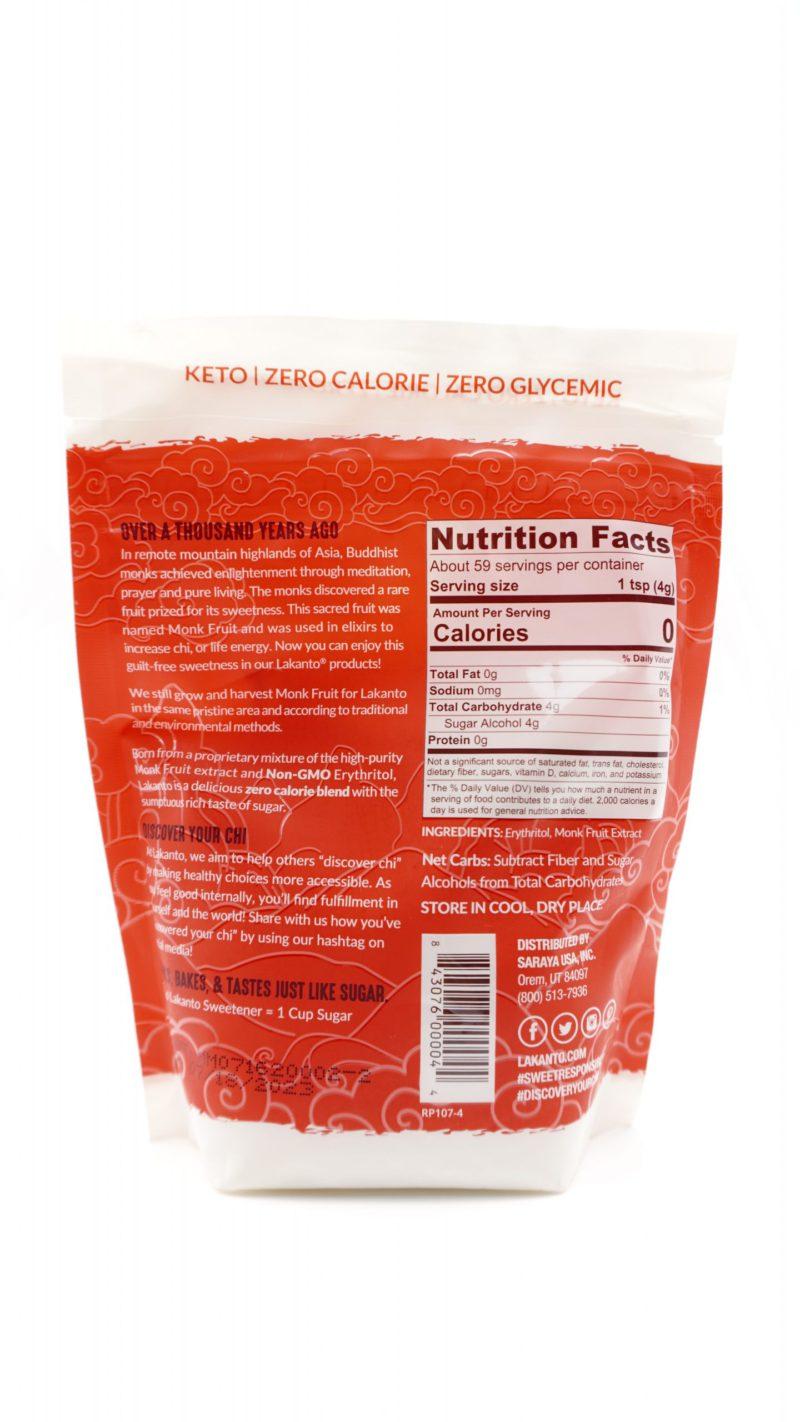 Lakanto Monkfruit Sweetener with Erythritol, Classic 235g