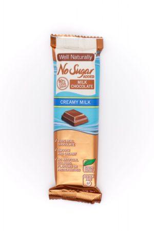 Well Naturally no sugar added creamy milk chocolate 45g