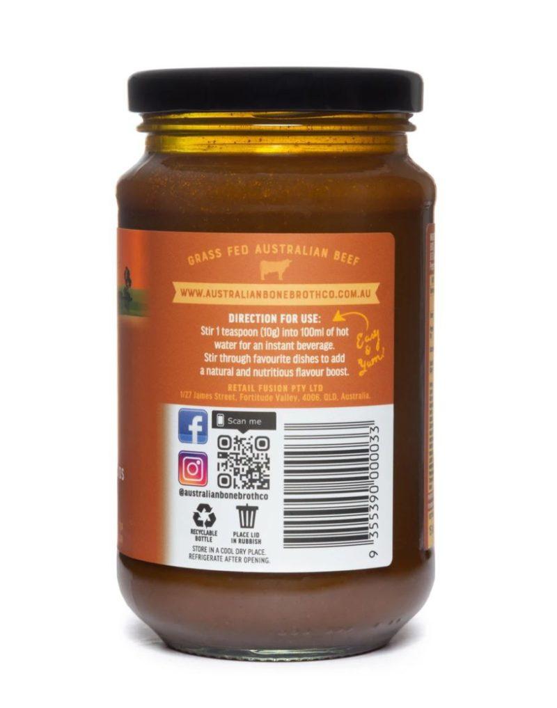 TurmericbonebrothAustralian Bone Broth Turmeric Flavor 375g
