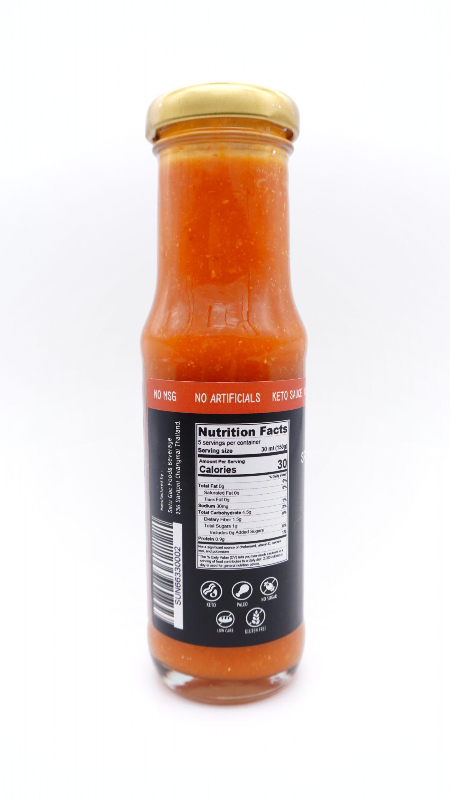 SUNTURI Keto Sriracha Chilli Sauce 150ml