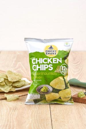 Chicky Shake Chicken Chips - Nori Wasabi 14g