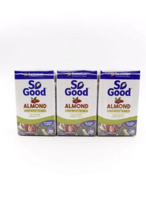 So Good Unsweetened Almond Milk 3X250ml