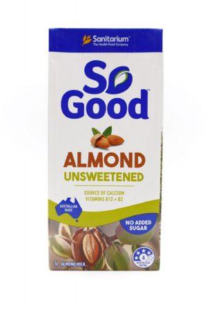 So Good Unsweetened Almond Milk 1L