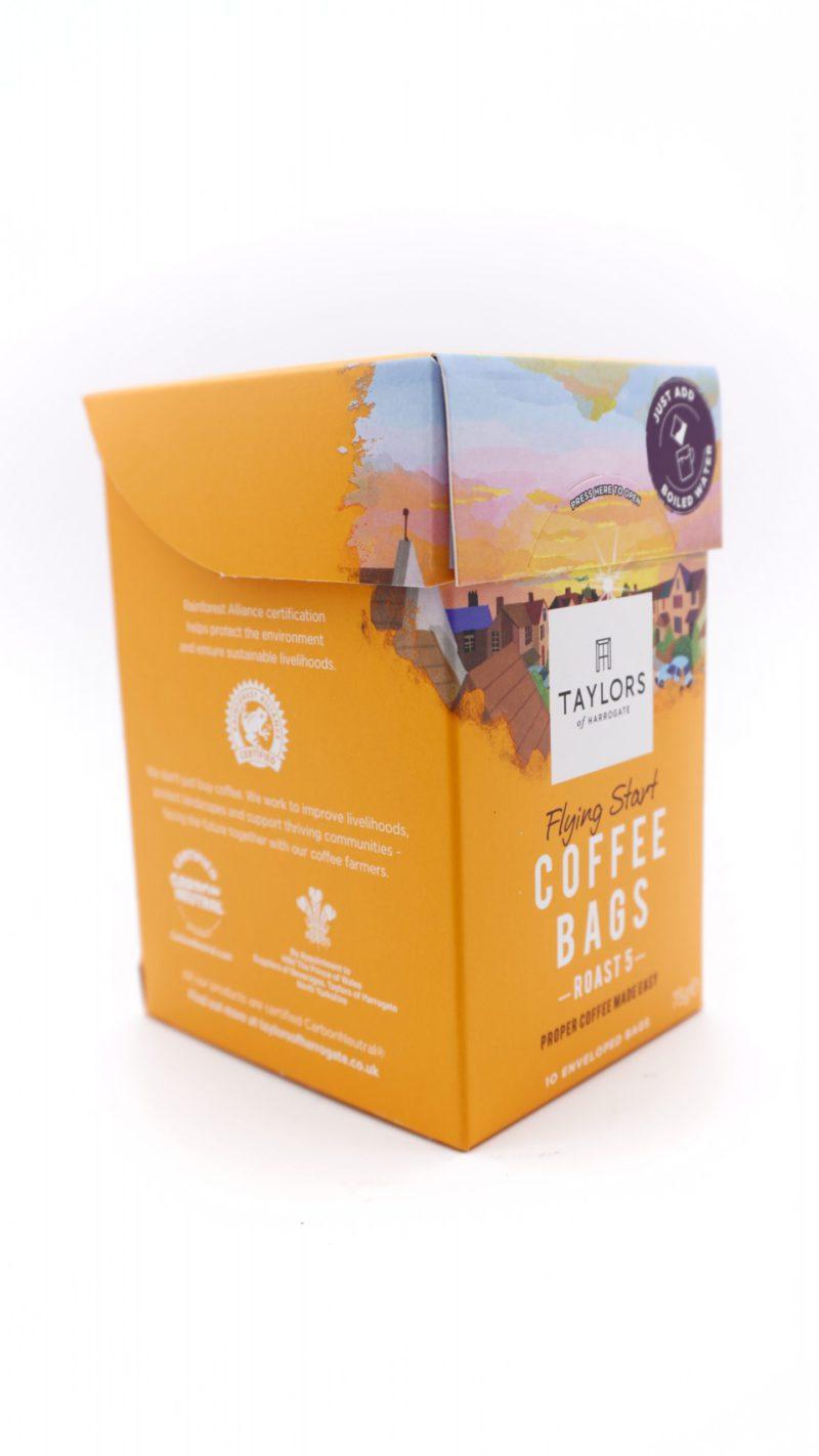 Taylors of Harrogate Flying Start Coffee Bags, 10 Enveloped Bags