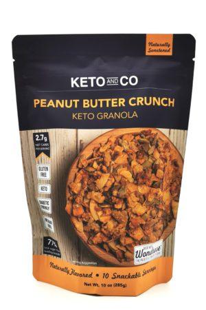 Keto And Co Peanut Butter Crunch Keto Granola 285g